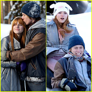 Bella Thorne: Snow Tubing with Tristan Klier!