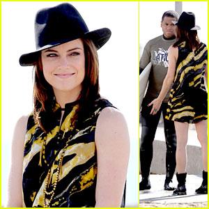 Jessica Stroup & Tristan Wilds: Beach Scenes for '90210'