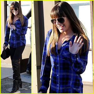 Lea Michele: Salon Visit with Mom