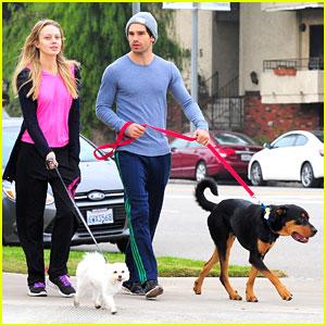 Melissa Ordway & Justin Gaston: Dog Walking Duo