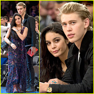Vanessa Hudgens: Knicks Game with Austin Butler!