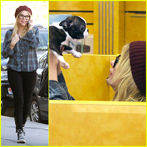 Ashley Benson: Puppy Play Time