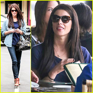 Ashley Greene: Cafe Med Lunch with Brother Joe