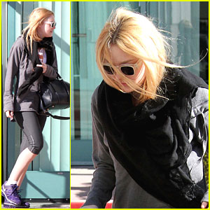 Dakota Fanning: Workout Before The Weekend