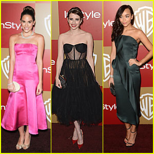 Emma Roberts: InStyle Golden Globe Party with Ashley Madekwe