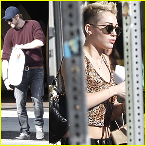 Miley Cyrus &#038; Liam Hemsworth: Surfboard Shopping Sweeties