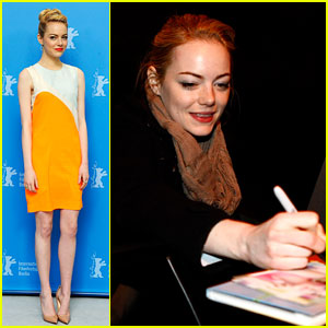 Emma Stone: German 'Croods' Photocall!
