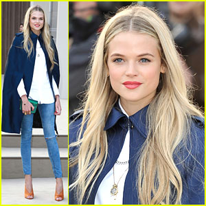Gabriella Wilde: Burberry Prorsum Show with Douglas Booth