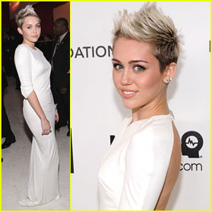 Miley Cyrus: Elton John AIDS Foundation Oscar Party 2013