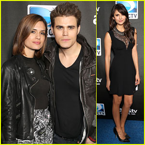 Paul Wesley & Torrey DeVitto: Super Bowl Party With Nina Dobrev!