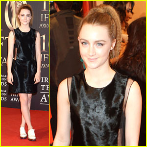 Saoirse Ronan: IFTA Awards 2013 with Jack Reynor