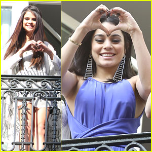 Selena Gomez & Vanessa Hudgens: 'Spring Breakers' In Paris!