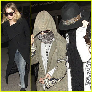 Vanessa Hudgens: LAX Arrival with Selena Gomez & Ashley Benson