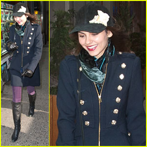 Victoria Justice: Purple Pants in NYC