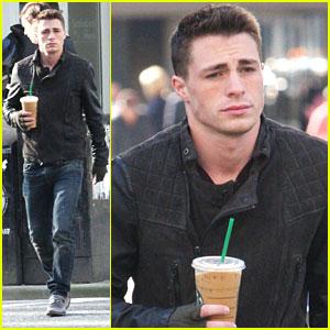 Colton Haynes: Starbucks Stop