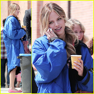 Halston Sage Film NBC Pilot in LA
