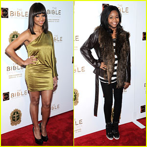 Gabby Douglas &#038; Monique Coleman: 'The Bible Experience' Opening Night Gala