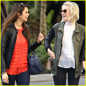 Nina Dobrev & Julianne Hough: Lakers Ladies!