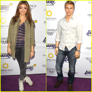 Sarah Hyland & Derek Hough: Lakers Casino Night Benefit