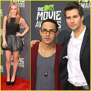 Carlos Pena &#038; James Maslow -- MTV Movie Awards 2013 with Alexa Vega