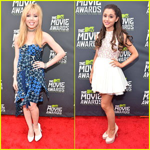 Ariana Grande & Jennette McCurdy -- MTV Movie Awards 2013