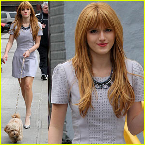 Bella Thorne: NYC Dog Walk with Kingston!