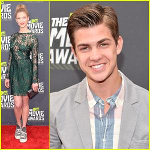 Cameron Palatas & Caitlin Gerard -- MTV Movie Awards 2013