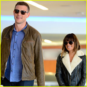Cory Monteith &#038; Lea Michele: LAX Couple!