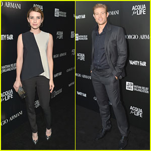 Emma Roberts: Giorgio Armani Paris Photo LA Event