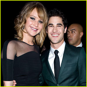 Jennifer Lawrence & Darren Criss: GLAAD Awards Pals!