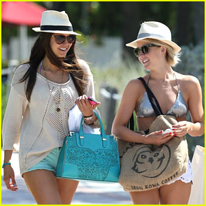 Nina Dobrev: Fun in the Sun with Julianne Hough!