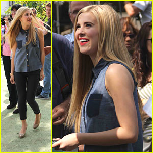 Caroline Sunshine: 'Extra' Appearance at The Grove