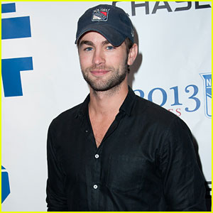 Chace Crawford: New York Rangers Playoff Game