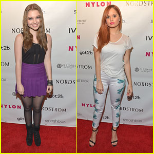 Debby Ryan & Sammi Hanratty: Nylon Young Hollywood Party 2013