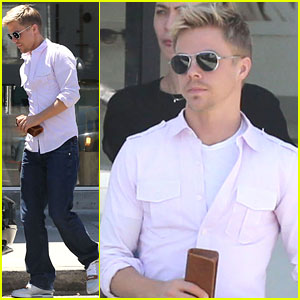 Derek Hough Stops For New Glasses