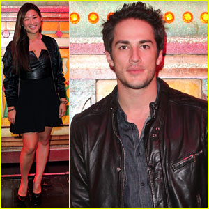 Jenna Ushkowitz & Michael Trevino Visit Le Moulin Rouge
