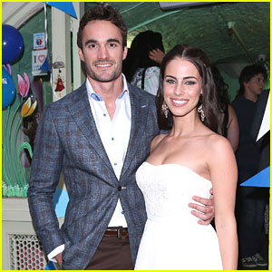 Jessica Lowndes & Thom Evans: Blue Cross Tea Party Pair
