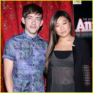 Jenna Ushkowitz &#038; Kevin McHale: 'Annie' Opening Night!