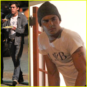 Zac Efron Eats Between 'Townies' Takes