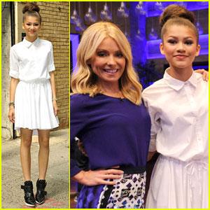 Zendaya & Val Chmerkoviskiy: 'Live! With Kelly & Michael' Appearance - Watch Now