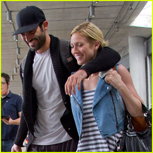 Brittany Snow & Tyler Hoechlin Arrive in Toronto for the MuchMusic Awards!