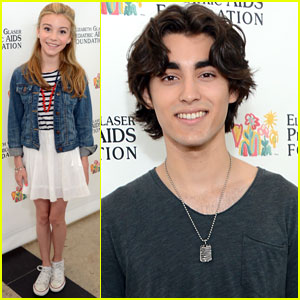 Hannelius arrives at the Elizabeth Glaser Pediatric AIDS Foundation    G Hannelius And Blake Michael