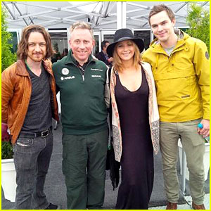 Jennifer Lawrence & Nicholas Hoult Attend Canadian Grand Prix