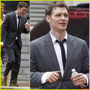 Joseph Morgan: First 'Dermaphoria' Set Photos!