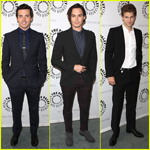 Ian Harding, Tyler Blackburn & Keegan Allen: PLL at Paley