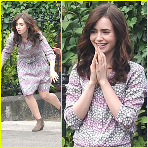 Lily Collins: Goodbye Bike Training Wheels on 'Love, Rosie'