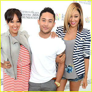 Tahj Mowry: EGPAF Time For Heroes 2013 with Sisters Tia & Tamera