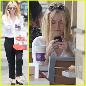 Dakota Fanning: Coffee Bean Cutie!