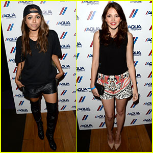 Kat Graham & Aimee Teegarden: Backstage at Bruno Mars!