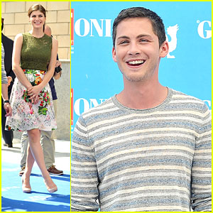 Logan Lerman & Alexandra Daddario: Giffoni Film Festival Photo Call